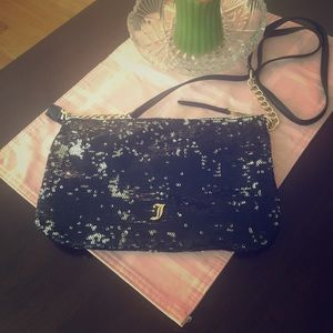 Juicy Couture— black, sequin purse with strap